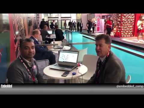 Rich Nass talks IoT with Digi Key's Robbie Paul at electronica 2018