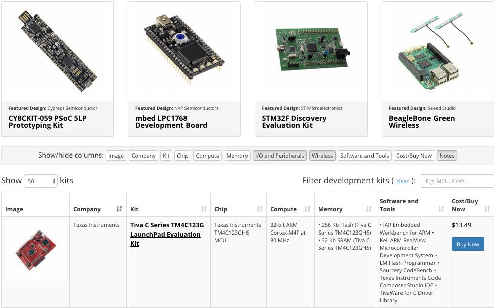 Updated Development Kit Selector