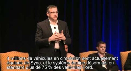Ford's Jim Buczkowski speaks at IDC SMART TECHnology World about intelligent systems (French)