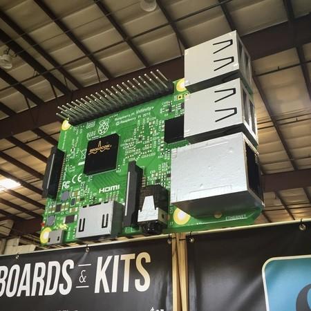 Gigantic Raspberry Pi model