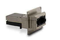 The LightVISION VM acts like a QSFP+ but offers reduced dimensions and power consumption, and industrial temperature range.