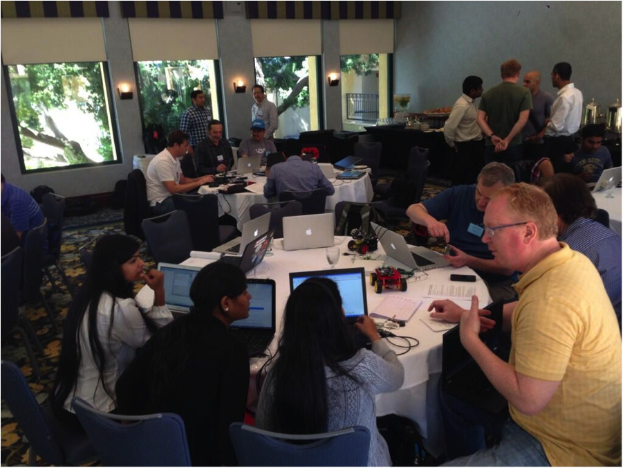 The IoT World Hackathon provided a venue for tinkerers to build robots based on Marvell, ARM, and Broadcom silicon.