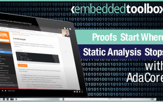 Embedded Toolbox: Prove It! Proofs Start Where Static Analysis Stops