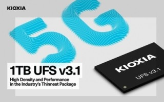 KIOXIA Introduces World's Thinnest 1TB Ver 3.1 UFS Embedded Flash Memory Device