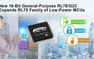 Renesas Strengthens RL78 Family of Low-Power MCUs with 16-Bit General-Purpose RL78/G23