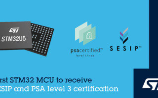STMicroelectronics' STM32U5 General-Purpose Microcontrollers Achieve PSA Certified Level-3 and SESIP3 Security Certifications