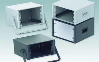 """New Half-Width TECHNOMET 10.5"""" Portable Enclosures For 42HP Subracks/Chassis"""