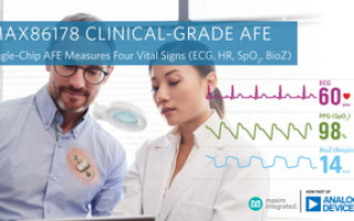 Clinical-Grade AFE from Analog Devices Measures Four Vital Signs for Remote Patient Monitoring Devices