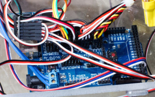The ClearWalker comes to life via Arduino and Bluetooth control
