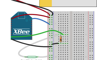 Build a connected open door alert system with XBee