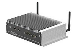 Fanless industrial box PC incorporates Intel CPUs