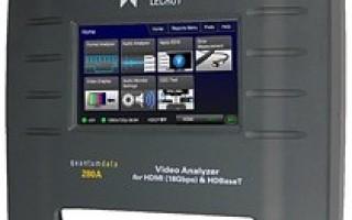 Saelig introduces Teledyne LeCroy's quantumdata 280 HDTV A/V test set