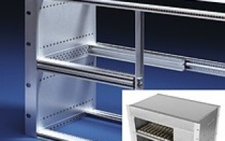 Modular rackmount enclosure allows mix of 3U and 6U segments