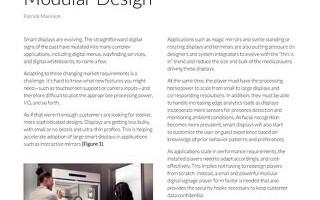 Slim Down Smart Displays with Modular Design