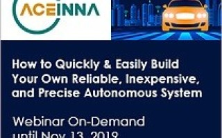 ACEINNA Teams Up with IEEE for a Special Webinar For Developers of Drones, Robots and AGVs