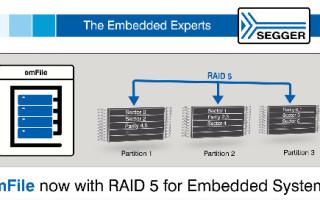 SEGGER Adds RAID5 to emFile File System