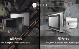 Premio Launches Rugged IP-Rated Stainless Steel Touchscreen Computers for Industrial HMIs