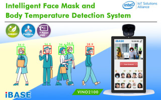 Intelligent Face Mask and Body Temperature Detection System
